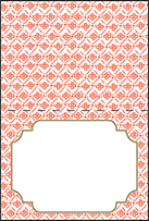 Ursula Letterpress Placecard Fold Design Small