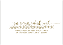 Ursula Letterpress Reply Envelope Design Small