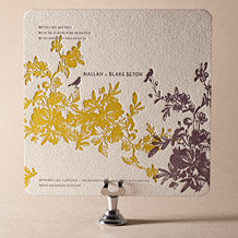 Vendage Letterpress Invitation Design Small