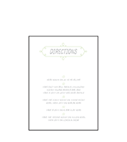 Vera Letterpress Direction Design Small