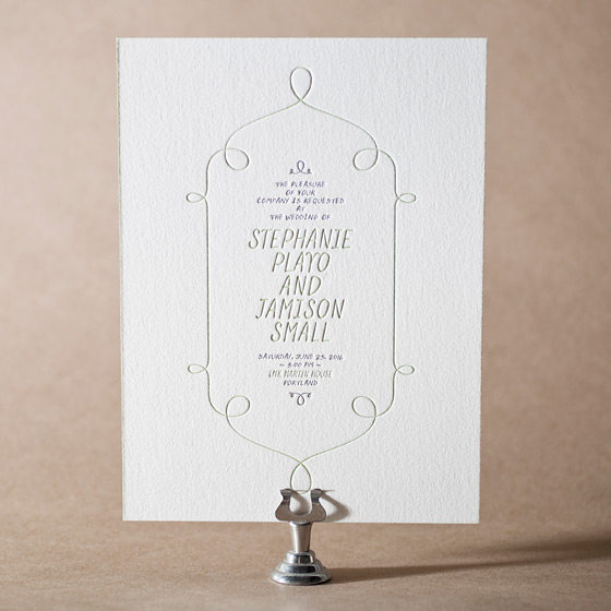 Vera Letterpress Invitation Design Small