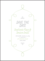 Vera Letterpress Save The Date Design Small