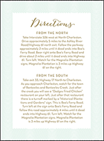 Viceroy Letterpress Direction Design Small
