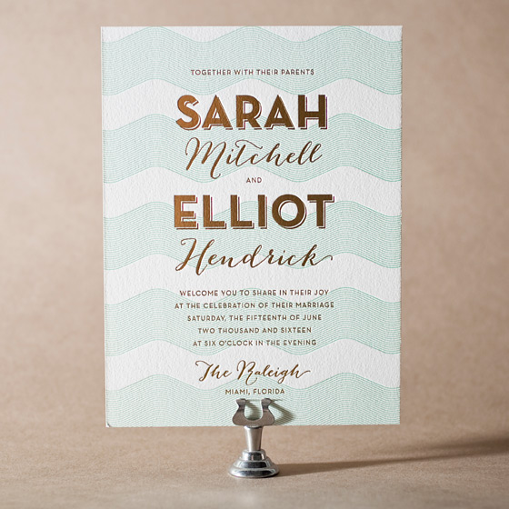 Viceroy Letterpress Invitation Design Small