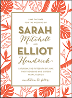Viceroy Letterpress Save The Date Design Small