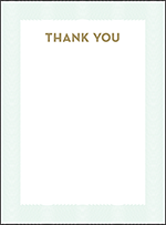 Viceroy Letterpress Thank You Card Flat Design Small