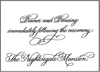 Victoria Calligraphy Letterpress Reception Design Small