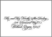 Victoria Calligraphy Letterpress Reply Envelope Design Small