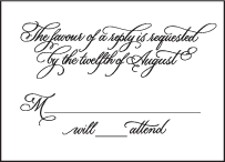 Victoria Calligraphy Letterpress Reply Design Small