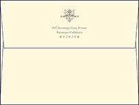 Victorian Elegance Letterpress Envelope Design Small