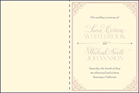 Victorian Elegance Letterpress Program Design Small