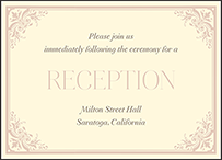 Victorian Elegance Letterpress Reception Design Small