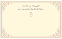 Victorian Elegance Letterpress Reply Postcard Front Design Small