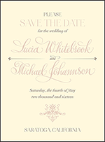 Victorian Elegance Letterpress Save The Date Design Small