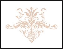 Victorian Elegance Letterpress Stamp Design Small
