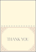 Victorian Elegance Letterpress Thank You Card Fold Design Small