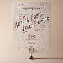 Victrola Letterpress Invitation Design Small
