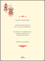 Victrola Letterpress Menu Design Small
