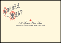 Victrola Letterpress Reply Envelope Design Small