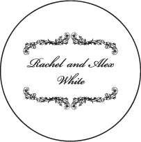 Viennese Waltz Letterpress Coaster Design Small