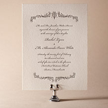 Viennese Waltz Letterpress Invitation Design Small