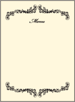 Viennese Waltz Letterpress Menu Design Small