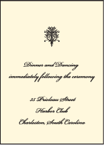 Viennese Waltz Letterpress Reception Design Small
