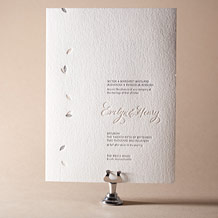Ville-Marie Letterpress Invitation Design Small