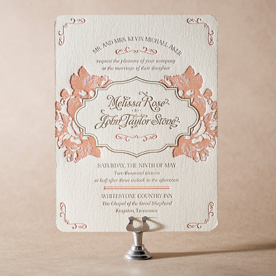 Vintage Apothecary Letterpress Invitation Design Small
