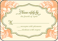 Vintage Apothecary Letterpress Reply Design Small