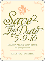 Vintage Apothecary Letterpress Save The Date Design Small