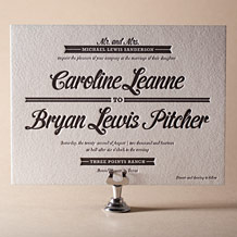 Vintage Charm Letterpress Invitation Design Small