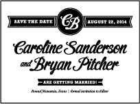 Vintage Charm Letterpress Save The Date Design Small
