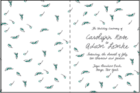 Vintage Leaves Letterpress Program Design Small