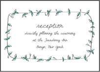 Vintage Leaves Letterpress Reception Design Small
