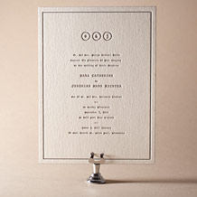 Vintage Librairie Letterpress Invitation Design Small