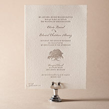 Walden Letterpress Invitation Design Small