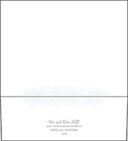Wave Letterpress Envelope Design Small