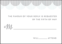 Wave Letterpress Reply Design Small