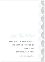 Wave Letterpress Save The Date Design Small