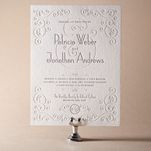 Weber Letterpress Invitation Design Small