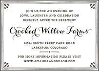 Westley Letterpress Reception Design Small