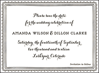 Westley Letterpress Save The Date Design Small