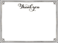 Westley Letterpress Thank You Card Flat Design Small