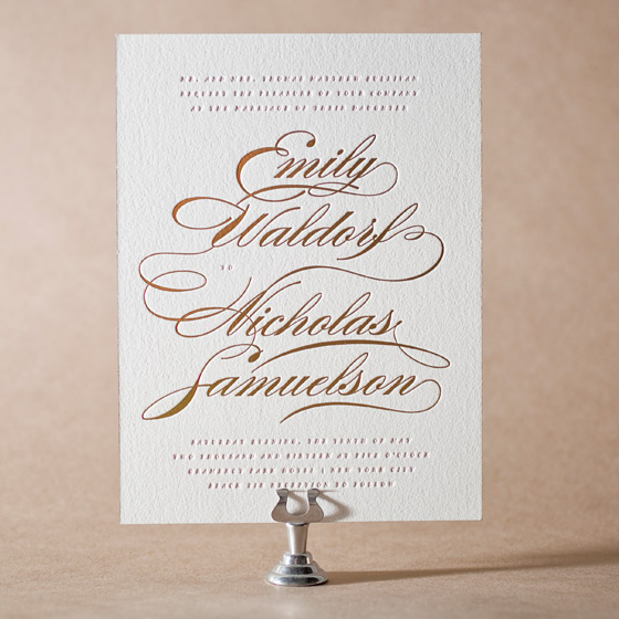 Whisper Letterpress Invitation Design Small
