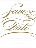 Whisper Letterpress Save The Date Design Small