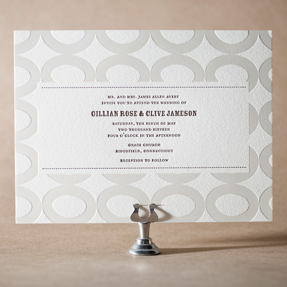 Wicklow Letterpress Invitation Design Small