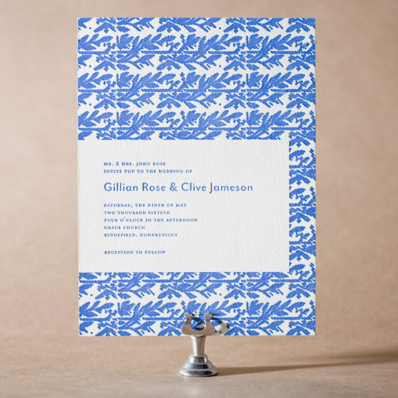 Willow Letterpress Invitation Design Small