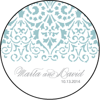 Wisteria Letterpress Coaster Design Small