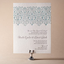 Wisteria Letterpress Invitation Design Small